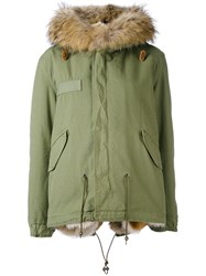 Mr And Mrs Italy Army Mini Parka Women Cotton Lamb Skin Polyamide Coyote Fur S Green