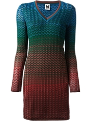 M Missoni Zig Zag Print Dress Multicolour