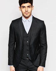 Selected Homme Skinny Check Suit Jacket With Stretch Black