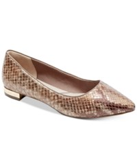 Rockport Women's Total Motion Adelyn Pointed Toe Flats Women's Shoes Tan