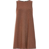 River Island Womens Rust Brown Sparkly Swing Dress
