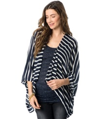 Wendy Bellissimo Maternity Open Front Striped Cardigan