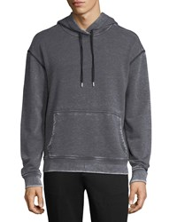 Atm Anthony Thomas Melillo Sun Bleached French Terry Hoodie Charcoal