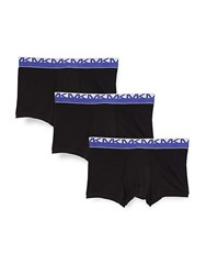 Michael Kors Three Pack Stretch Boxer Briefs Black
