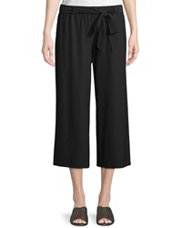 Eileen Fisher Washable Stretch Crepe Cropped Pants W Belt Plus Size Black