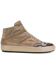 Alejandro Ingelmo Lace Up High Top Sneakers Men Calf Leather Leather Rubber 44 Nude Neutrals
