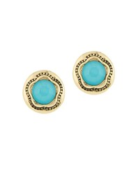Laundry By Shelli Segal Pacific Highway Round Stone Stud Earring Turquoise