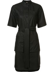 Adam By Adam Lippes Drawstring Shirt Dress Black