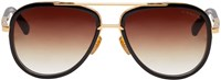 Dita Black And Gold Mach Two Aviator Sunglasses