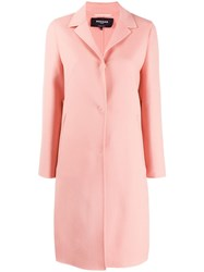 Rochas Single Breasted Coat Pink