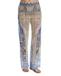 Camilla Printed Wide Leg Coverup Pants Song Of The Harpi
