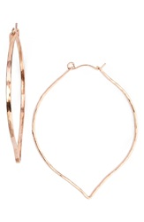 Ija 'Large' 14K Rose Gold Fill Lotus Hoop Earrings 14K Rose Gold Fill