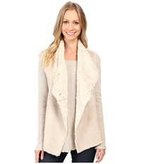 Dylan By True Grit Madison City Faux Sueded Shearling Snap Vest Chino Natural Women's Vest Taupe
