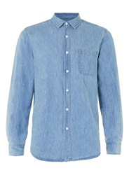 Topman Light Wash Blue Denim Casual Shirt