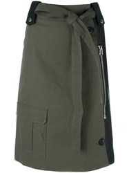 Each X Other Hybrid Military Skirt Green