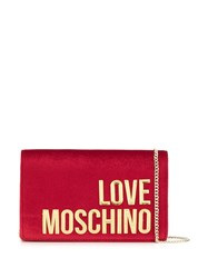 Love Moschino Logo Patch Shoulder Bag Red