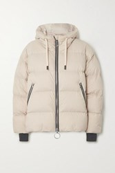 Ienki Ienki Dunno Hooded Quilted Down Ski Jacket Beige