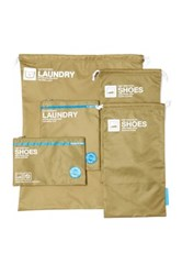 Flight 001 Go Clean Shoes And Laundry Bag Set Green