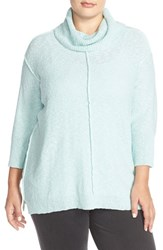 Plus Size Women's Two By Vince Camuto Exposed Seam Cowl Neck Pullover