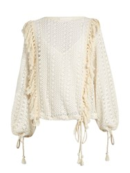 See By Chloe Crochet Lace Top Ivory