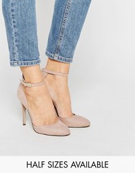 Asos Playwright High Heels Nude Micro Beige