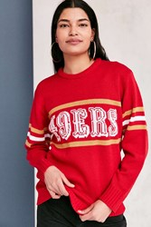 Mitchell And Ness Nfl Crew Neck Sweater Red
