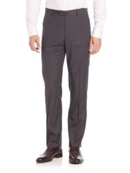 Incotex Bill Woolen Trousers Dark Grey