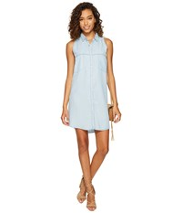 Bb Dakota Chance Chambray Shirtdress Light Blue Women's Dress
