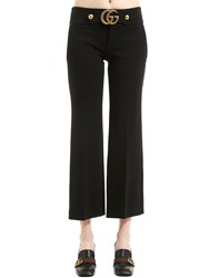 Gucci Boot Cut Stretch Viscose Jersey Pants Black