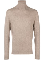 Chalayan Split Roll Neck Jumper Nude And Neutrals