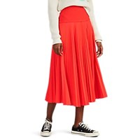 A.L.C. Hedrin Pleated Skirt Orange
