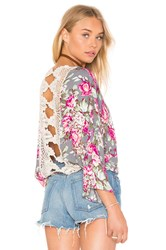 Bishop Young Lace Back Top Gray