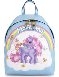Moschino My Little Pony Leather Backpack Light Blue