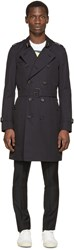 Burberry Navy Long Sandringham Trench