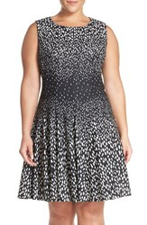 Eliza J Plus Size Women's 'Degrade' Gradient Print Fit And Flare Dress