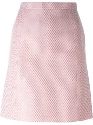Chanel Vintage Patterned Skirt Pink And Purple