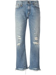 R 13 R13 Ripped Jeans Blue
