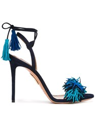 Aquazzura Ankle Strap Stiletto Sandals Blue