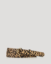 Lauren Ralph Lauren Belt 1 Leopard Print Haircalf With Equestrian Roller