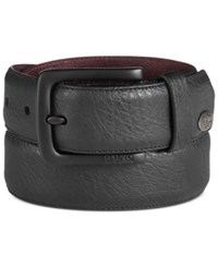 Buffalo David Bitton Coated Leather Belt Black