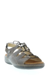 Wolky Kite Lace Up Sandal Slate Leather