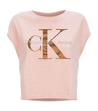 Calvin Klein Jeans Icon Logo T Shirt Female Pink