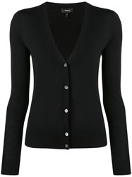 Theory V Neck Cardigan Black