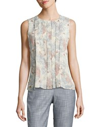 Tommy Hilfiger Floral Pleated Shell Yellow Multicolor