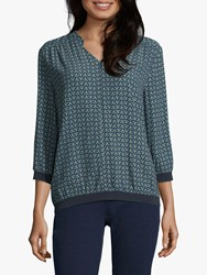 Betty And Co. Printed Blouse Blue Green