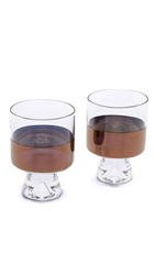 Tom Dixon Tank Low Ball Glasses Set Clear Copper