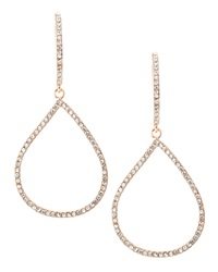 Be Je Cz Pave Teardrop Hoop Earrings Rose Gold