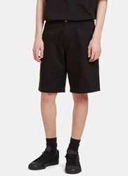 Raf Simons Denim Twill Shorts Black