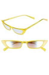 Kendall Kylie Vivian Extreme 51Mm Cat Eye Sunglasses Sun City Yellow Solid Smoke Sun City Yellow Solid Smoke
