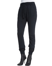 Haider Ackermann Seamed Jersey Drawstring Sweatpants
